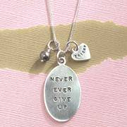 Never Give Up Necklace for Graduates