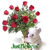 Bear with Roses - JustFlowers.com