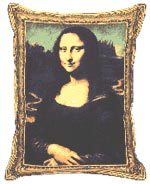 Gifts for Niece - Giggling Mona Lisa Pillow
