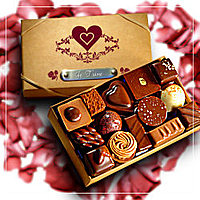 Chocolate Box With I Love You Engraved